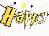 Harry Potter Happy Birthday Banner Printable Free Reserved Harry Potter Birthday Party Banner Harry Potter