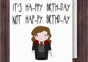 Harry Potter Happy Birthday Quotes Levi O Sa Harry Potter Birthday Card by
