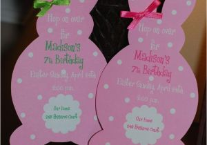 Harry the Bunny Birthday Invitations Easter Bunny Birthday Invitation or Easter Luncheon Brunch