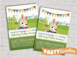 Harry the Bunny Birthday Invitations Harry the Bunny Baby First Tv Birthday Invitation