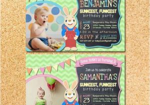 Harry the Bunny Birthday Invitations Harry the Bunny Baby First Tv Inspired Birthday by