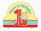 Harry the Bunny Birthday Invitations Harry the Bunny Personalized Happy 1st Birthday Cake