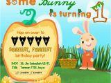 Harry the Bunny Birthday Invitations Tabahbhadrika 1st Birthday Party Invitation Harry the