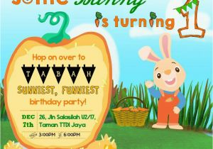 Harry the Bunny Birthday Invitations Tabahbhadrika 1st Birthday Party Invitation Harry the