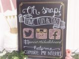 Hashtag for Birthday Girl Oh Snap Hashtag Your Day Hand Lettered Sweet 16 Chalkboard