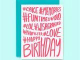 Hashtags for Birthday Girl Hashtag Birthday Card Hashtag Happy Birthday Fun Birthday