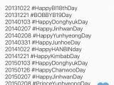 Hashtags for Birthday Girl Return On Twitter Quot Ikon Members 39 Birthday Hashtags 2013