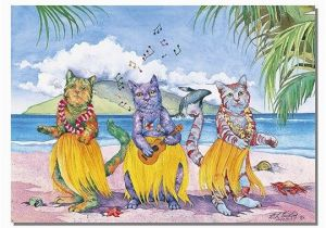 Hawaiian Birthday Card Images 4 Greeting Cards Hawaiian Happy Birthday Meow Hula Halau