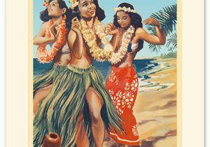 Hawaiian Birthday Card Images Hawaiian Premium Vintage Collectible Greeting Card Happy