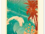 Hawaiian Birthday Card Images Hawaiian Premium Vintage Collectible Greeting Card Happy