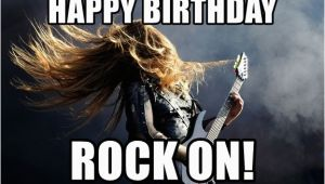 Heavy Metal Birthday Meme Happy Birthday Rock On Heavy Metal Meme Generator