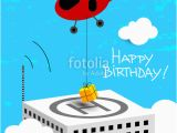 Helicopter Birthday Card Quot Happy Birthday Greeting Card Helicopter with Gift Quot Stock