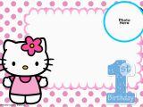 Hello Kitty 1st Birthday Invitations Free Hello Kitty 1st Birthday Invitation Template Free