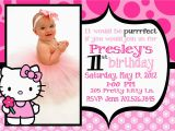 Hello Kitty 1st Birthday Invitations Hello Kitty 1st Birthday Invitations