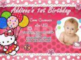 Hello Kitty 1st Birthday Invitations Hello Kitty Birthday Party Invitation 1st Custom Baby