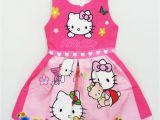 Hello Kitty Birthday Girl Dress 2017 Summer Hello Kitty Dresses for Girls Princess