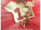 Hello Kitty Birthday Girl Dress Hello Kitty Birthday Tutu Outfit Party Dress Set 1st