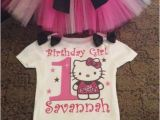Hello Kitty Birthday Girl Dress Hello Kitty Girls 1st Birthday Tutu Outfit Party Dress