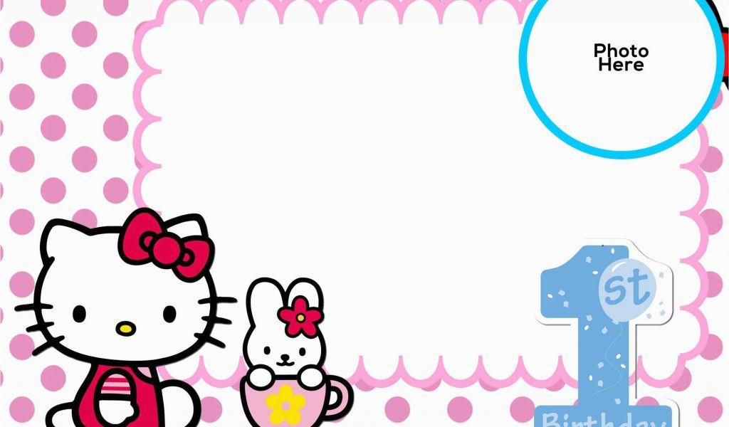 Hello Kitty Birthday Invitation Maker Free 1st