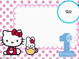 Hello Kitty Birthday Invitation Maker Free Hello Kitty 1st Birthday Invitation Template Free