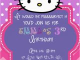 Hello Kitty Birthday Invitation Maker Hello Kitty Birthday Invitations Oxsvitation Com