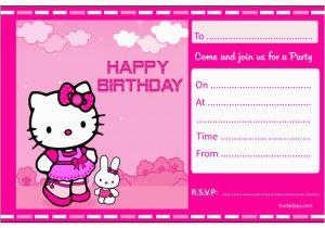 Hello Kitty Birthday Invitations Free Download Invitation Card Template Cool