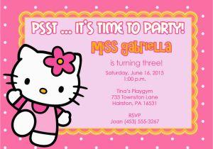 Hello Kitty Birthday Invitations Free Download