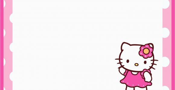 Hello Kitty Birthday Invitations Free Download Printable Invitation Templates