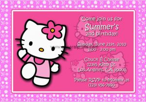 Hello Kitty Birthday Invites Hello Kitty Birthday Invitation Wording