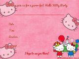 Hello Kitty Birthday Invites Free Printables Free Printable Hello Kitty Birthday Invitation Template