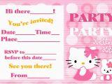 Hello Kitty Birthday Invites Free Printables Hello Kitty Birthday Invitation Bagvania Free Printable