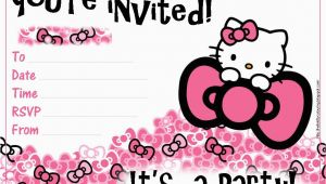Hello Kitty Birthday Invites Free Printables Pretty Practical Mom Free Printable Hello Kitty Invitations