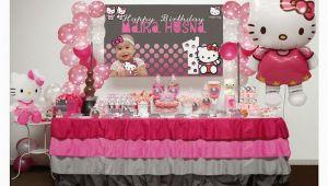 Hello Kitty Decoration Ideas Birthday Kara 39 S Party Ideas Pink and Grey Hello Kitty themed