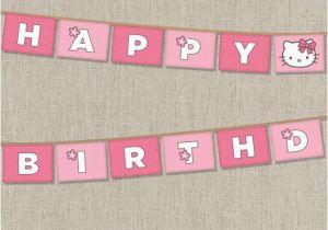 Hello Kitty Happy Birthday Banner Printable Free Hello Kitty Printable Birthday Banner Birthday Party