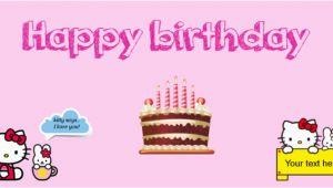 Hello Kitty Happy Birthday Banner Printable Free Hello Kitty themed Birthday Banner Banner Template Sign4x