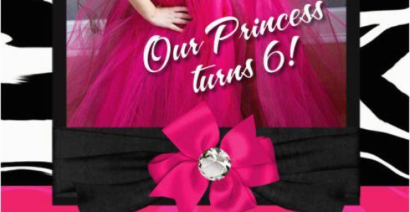 Hello Kitty Personalized Birthday Invitations Personalized Hot Pink Hello Kitty Zebra Birthday