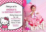 Hello Kitty Photo Birthday Invitations Hello Kitty Birthday Party Ideas Pink Lover