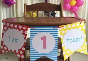 High Chair Decorations 1st Birthday Boy Boys 1st First Birthday Blue