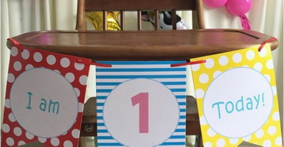 High Chair Decorations 1st Birthday Boy Blue Boy 39 S 1st Birthday High Chair Decorating Kit Set Baby