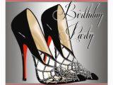 High Heel Birthday Decorations Silver Red Black High Heels Birthday Party Card Zazzle