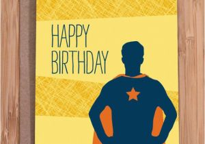 Hilarious Birthday Cards for Him Funny Birthday Card Super Guy for Him