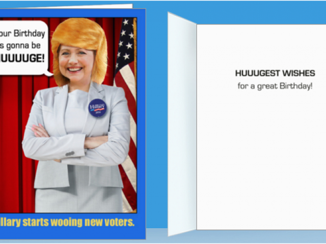 Download By SizeHandphone Tablet Desktop Original Size Back To Hillary Clinton Birthday Card