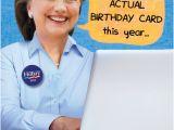 Hillary Clinton Happy Birthday Card Funny Birthday Card Quot Hillary On Computer Quot From Cardfool Com