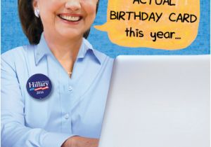 Hillary Clinton Happy Birthday Card Funny Birthday Card Quot Hillary On Computer Quot From Cardfool Com