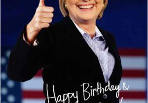 Hillary Clinton Happy Birthday Card Funny Political Cards New Fresh and Funny Greeting