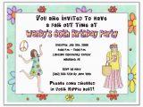 Hippie Invitations Birthday Party Hippie 60s 70s Retro Birthday Party Invitations Adult