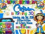 Hippie Invitations Birthday Party Hippie Invitation Invite Hippie Birthday by