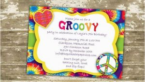 Hippie Invitations Birthday Party Hippie Invitation Invite Hippie Birthday Party Groovy