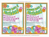 Hippie Invitations Birthday Party Printable Party Invitation Hippie 1960s by Dilibertodesign