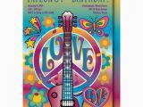 Hippie Invitations Birthday Party Retro Birthday Invitation Hippie Birthday Party 60 39 S